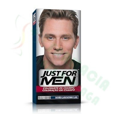 JUST FOR MEN CHAMPU COLORANTE 30 CC CASTAÑO CLARO