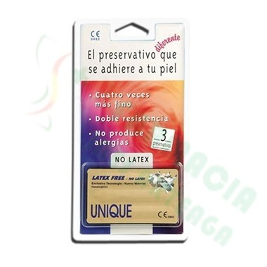 UNIQUE PRESERVATIVO DE RESINA SINTETICA 3 U