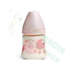 BIBERON 0 BPA PP BOCA ANCHA T LATEX ANATOMICA SUAVINEX 3 POSICIONES 150 CC + T1 M ROSA