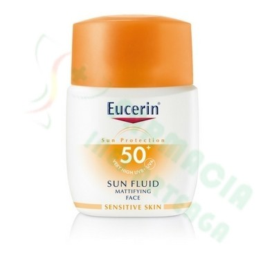 EUCERIN SUN PROTECTION 50+ SUN FLUID ROSTRO MATT 50 ML