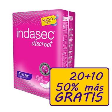 INDASEC EXTRA COMPRESA PERDIDAS LEVES BOLSA 30 U