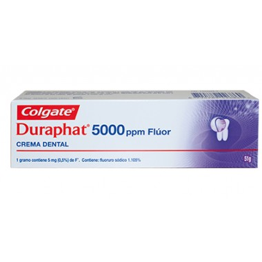 CREMA DENTAL 5000 PPM FLUOR DURAPHAT 51 G