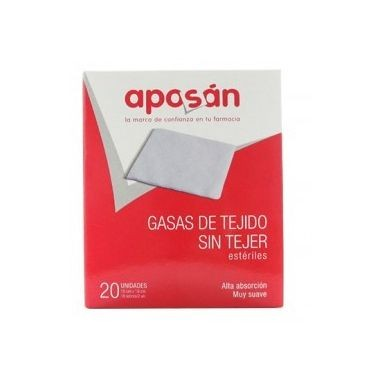 APOSAN GASA ESTERIL TEJIDO SIN TEJER COMPRESAS 10 CM X 10 CM 50 GASAS (2 U/SOBRE)