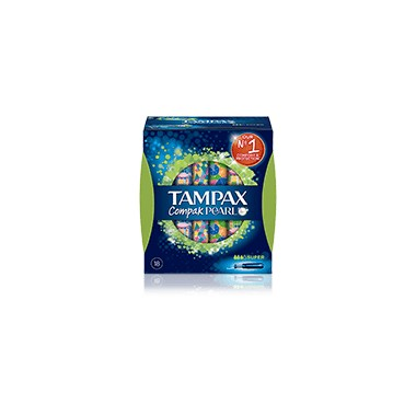 TAMPON 100%ALGODON SUPER TAMPAX COMPAK PEARL 18 UNIDADES