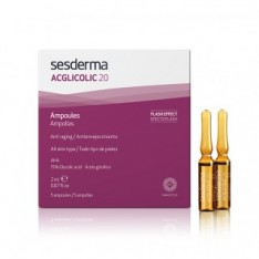 AMPOLLA FLASH FACIAL ACGLICOLIC + C-VIT FLASH PEELING + LUMINOSIDAD SESDERMA 2 UNIDADES