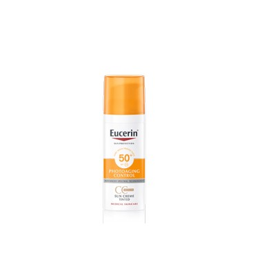 EUCERIN SUN PROTECTION FOTOPROTECTOR SUN CREME 50+ PHOTOAGING CONTROL CC TONO MEDIO 50 ML