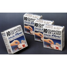 GUANTE LATEX MEDI-FLOWER 10 U