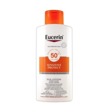 FOTOPROTECTOR LOTION SENSITIVE PROTECT PIEL SENSIBLE 50+ 400 ML + REGALO LOCION HIDRATANTE EUCERIN 200 ML