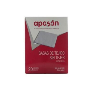 APOSAN GASA ESTERIL TEJIDO SIN TEJER COMPRESAS 10 CM X 20 CM 20 GASAS