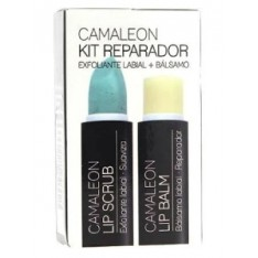 KIT REPARADOR LABIAL EXFOLIANTE LIP SCRUB MELON 4 G + BALSAMO LIP BALM CAMALEON 4 G