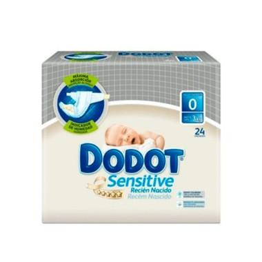 PAÑAL INFANTIL DODOT SENSITIVE RECIEN NACIDO T- 0 - 3 KG 24U