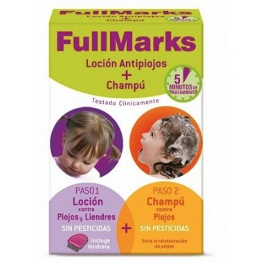PACK FULLMARKS CHAMPU 150 ML + LOCION ANTIPIOJOS 100 ML
