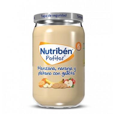 POTITO MANZANA NARANJA PLATANO Y GALLETA NUTRIBEN 235 G