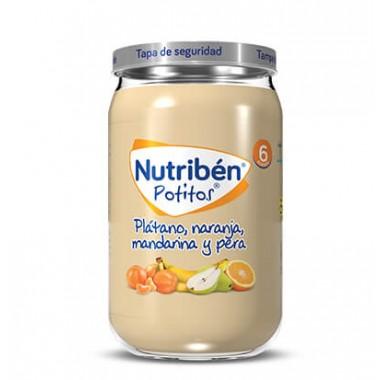 POTITO PLATANO NARANJA MANDARINA Y PERA NUTRIBEN GRANDOTE 235 G