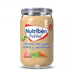 POTITO TERNERA CON JUDIAS VERDES Y ZANAHORIAS NUTRIBEN GRANDOTE 235 G