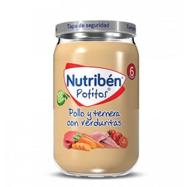 POTITO POLLO TERNERA CON VERDURITAS NUTRIBEN GRANDOTE 250 G