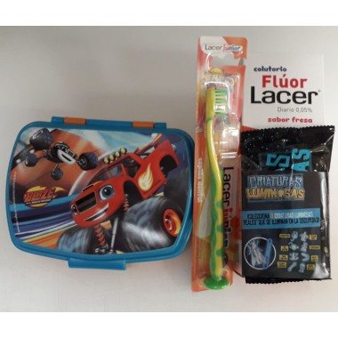 PACK CEPILLO + COLUTORIO DENTAL JUNIOR 500 ML LACER 500 ML + FIAMBRERA REGALO (PROMOCION DENTAL)