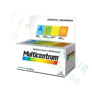 MULTICENTRUM CON LUTEINA 30 COMP